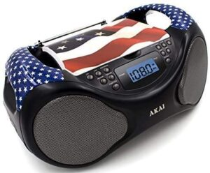 Akai CDAMFM Line in function AUX Portable Boombox CE2000-USA Limited Edition with LCD Display + Bass Boost