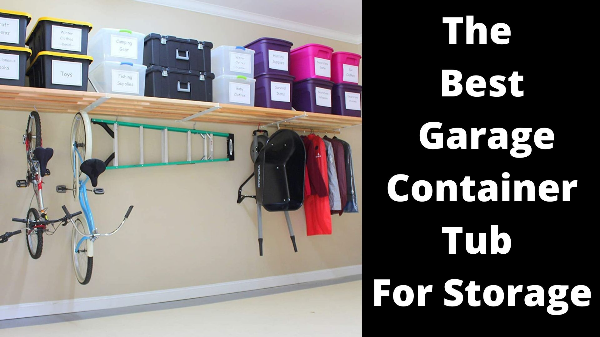 6 The Best Garage Container Tub For Storage – Review 2021